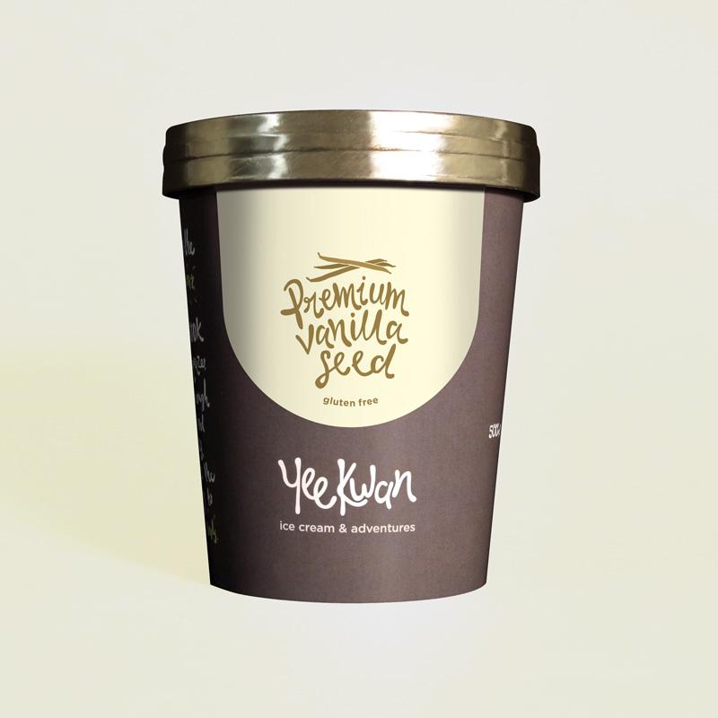 Premium Vanilla Seed Ice Cream